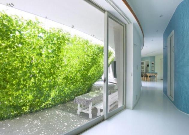 casas autosuficientes vegetación